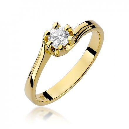 Biżuteria SAXO 14K Pierścionek z brylantem 0,30ct W-163 Złoty