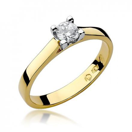 Biżuteria SAXO 14K Pierścionek z brylantem 0,25ct W-221 Złoty