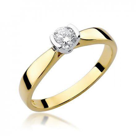 Biżuteria SAXO 14K Pierścionek z brylantem 0,25ct W-223 Złoty