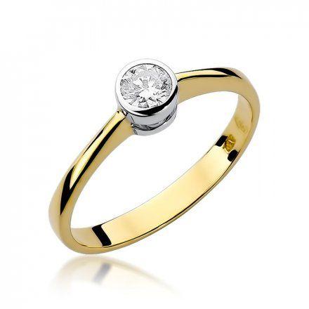 Biżuteria SAXO 14K Pierścionek z brylantem 0,25ct W-224 Złoty