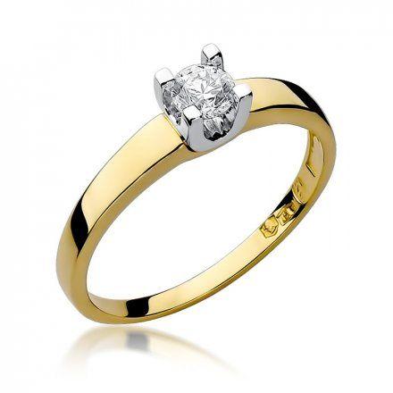 Biżuteria SAXO 14K Pierścionek z brylantem 0,25ct W-225 Złoty