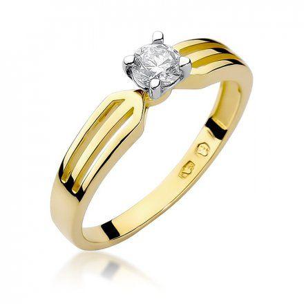 Biżuteria SAXO 14K Pierścionek z brylantem 0,25ct W-226 Złoty