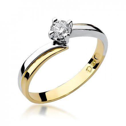 Biżuteria SAXO 14K Pierścionek z brylantem 0,25ct W-231 Złoty