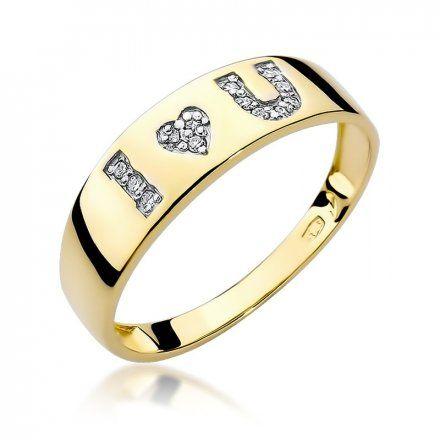 Biżuteria SAXO 14K Pierścionek z brylantami 0,07ct W-268 Złoty