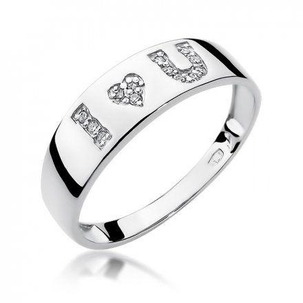Biżuteria SAXO 14K Pierścionek z brylantami 0,07ct W-268 Białe Złoto