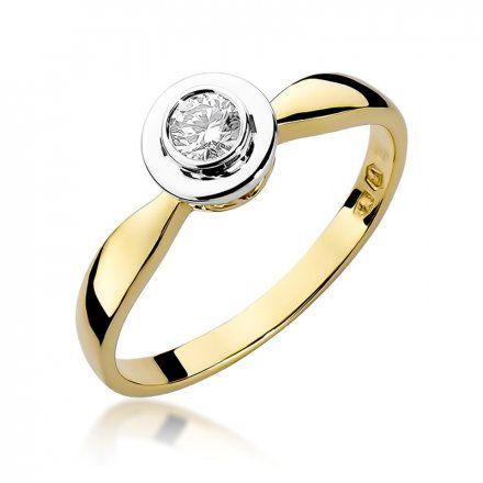Biżuteria SAXO 14K Pierścionek z brylantem 0,20ct W-294 Złoty