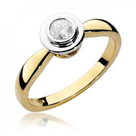 Biżuteria SAXO 14K Pierścionek z brylantem 0,30ct W-294 Złoty