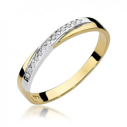 Biżuteria SAXO 14K Pierścionek z brylantami 0,07ct W-305 Złoty