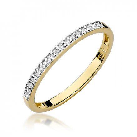 Biżuteria SAXO 14K Pierścionek z brylantami 0,09ct W-306 Złoty