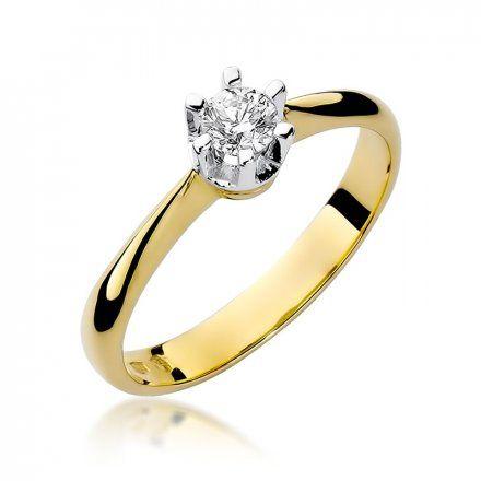 Biżuteria SAXO 14K Pierścionek z brylantem 0,23ct W-36 Złoty