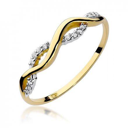 Biżuteria SAXO 14K Pierścionek z brylantami 0,07ct W-96 Złoty