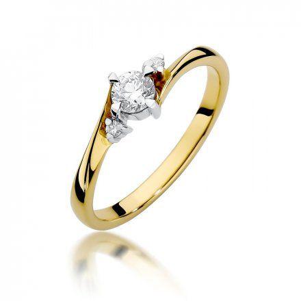 Biżuteria SAXO 14K Pierścionek z brylantami 0,28ct W-346 Złoty