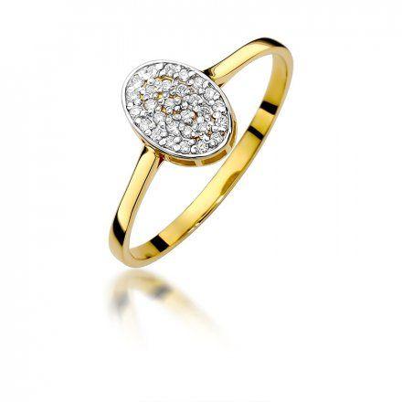 Biżuteria SAXO 14K Pierścionek z brylantami 0,14ct W-154 Złoty
