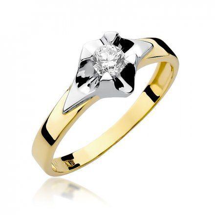 Biżuteria SAXO 14K Pierścionek z brylantem 0,30ct W-155 Złoty