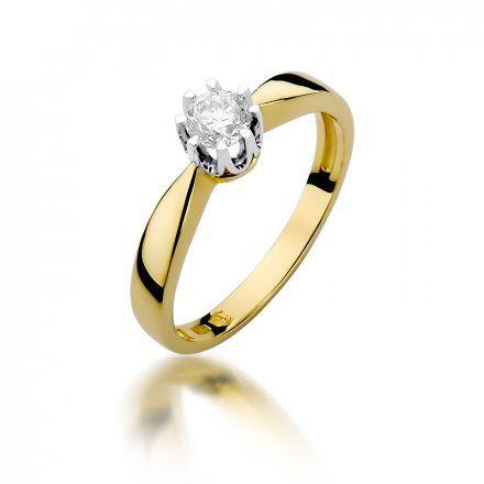 Biżuteria SAXO 14K Pierścionek z brylantem 0,30ct W-228 Złoty