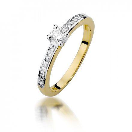 Biżuteria SAXO 14K Pierścionek z brylantami 0,28ct W-288 Złoty