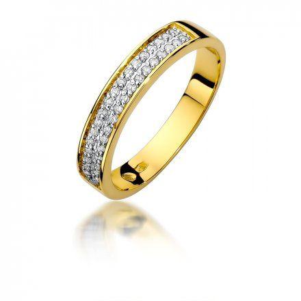 Biżuteria SAXO 14K Pierścionek z brylantami 0,18ct W-410 Złoty
