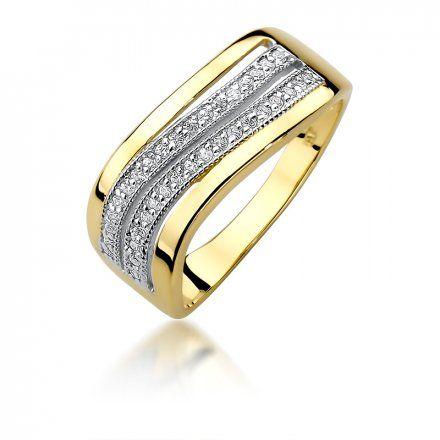 Biżuteria SAXO 14K Pierścionek z brylantami 0,18ct W-416 Złoty