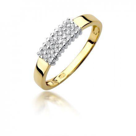 Biżuteria SAXO 14K Pierścionek z brylantami 0,20ct W-418 Złoty
