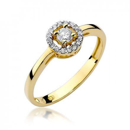 Biżuteria SAXO 14K Pierścionek z brylantami 0,20ct W-238 Złoty