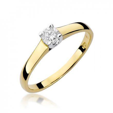 Biżuteria SAXO 14K Pierścionek z brylantem 0,20ct W-239 Złoty