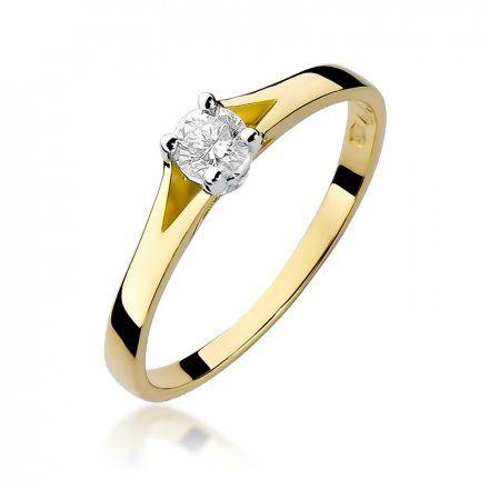 Biżuteria SAXO 14K Pierścionek z brylantem 0,20ct W-240 Złoty