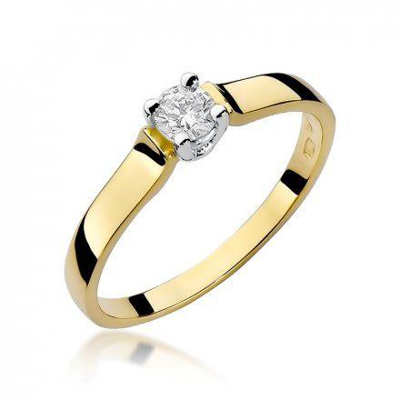 Biżuteria SAXO 14K Pierścionek z brylantem 0,20ct W-244 Złoty