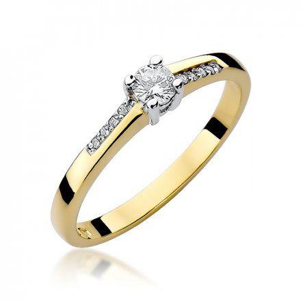Biżuteria SAXO 14K Pierścionek z brylantami 0,19ct W-258 Złoty