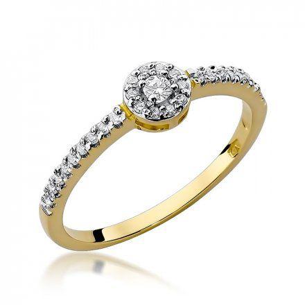 Biżuteria SAXO 14K Pierścionek z brylantami 0,19ct W-273 Złoty