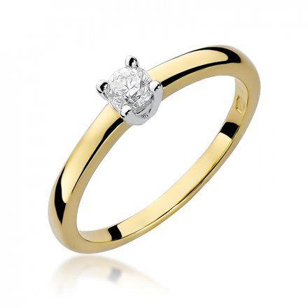 Biżuteria SAXO 14K Pierścionek z brylantem 0,20ct W-292 Złoty
