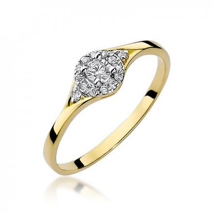 Biżuteria SAXO 14K Pierścionek z brylantami 0,17ct W-56 Złoty