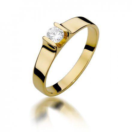 Biżuteria SAXO 14K Pierścionek z brylantem 0,23ct W-388 Złoty