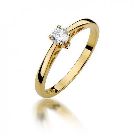 Biżuteria SAXO 14K Pierścionek z brylantami 0,24ct W-394 Złoty