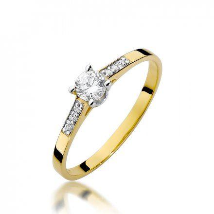 Biżuteria SAXO 14K Pierścionek z brylantami 0,21ct W-399 Złoty