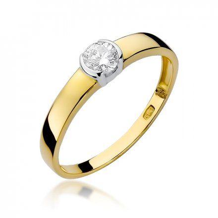 Biżuteria SAXO 14K Pierścionek z brylantem 0,25ct W-138 Złoty