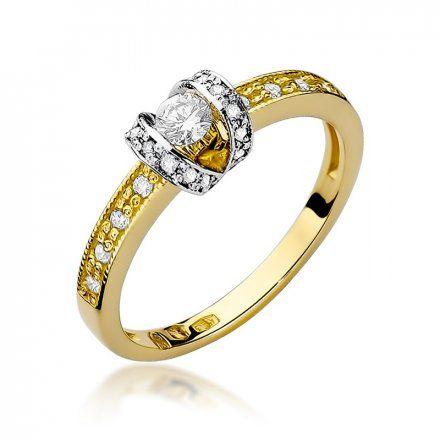 Biżuteria SAXO 14K Pierścionek z brylantami 0,25ct W-162 Złoty
