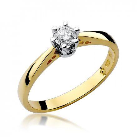 Biżuteria SAXO 14K Pierścionek z brylantem 0,25ct W-234 Złoty
