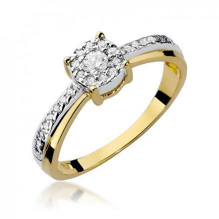 Biżuteria SAXO 14K Pierścionek z brylantami 0,25ct W-302 Złoty