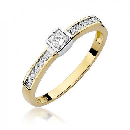 Biżuteria SAXO 14K Pierścionek z brylantami 0,24ct W-327 Złoty