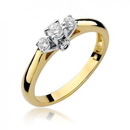 Biżuteria SAXO 14K Pierścionek z brylantami 0,22ct W-69 Złoty