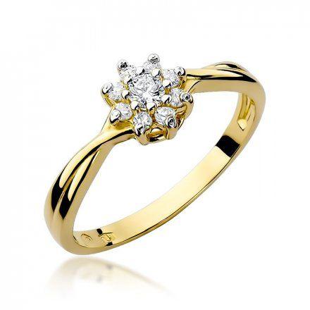 Biżuteria SAXO 14K Pierścionek z brylantami 0,22ct W-72 Złoty