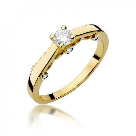 Biżuteria SAXO 14K Pierścionek z brylantami 0,28ct W-342 Złoty