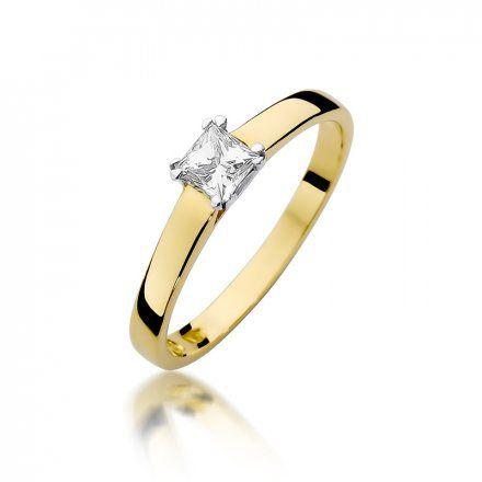 Biżuteria SAXO 14K Pierścionek z brylantem 0,30ct W-347 Złoty
