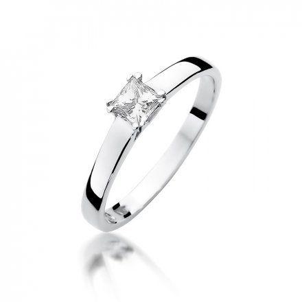Biżuteria SAXO 14K Pierścionek z brylantem 0,30ct W-347 Białe Złoto