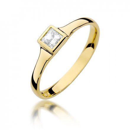 Biżuteria SAXO 14K Pierścionek z brylantem 0,30ct W-391 Złoty