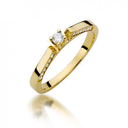 Biżuteria SAXO 14K Pierścionek z brylantami 0,28ct W-396 Złoty