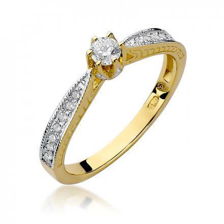 Biżuteria SAXO 14K Pierścionek z brylantami 0,30ct W-202 Złoty