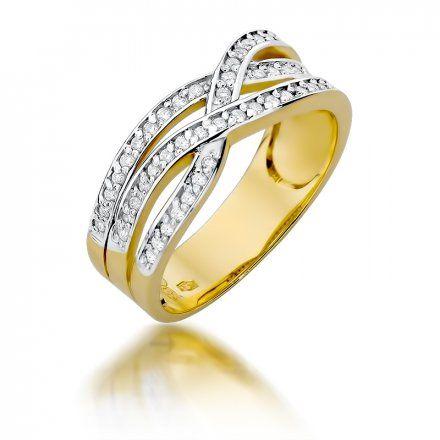 Biżuteria SAXO 14K Pierścionek z brylantami 0,27ct W-215 Złoty