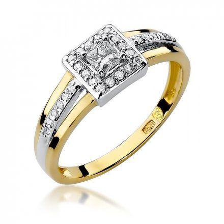 Biżuteria SAXO 14K Pierścionek z brylantami 0,29ct W-271 Złoty