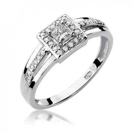 Biżuteria SAXO 14K Pierścionek z brylantami 0,29ct W-271 Białe Złoto